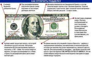 Как отличить новый доллар от подделки