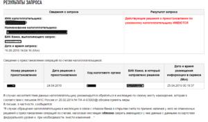 Блокировка расчетного счета налоговой инспекцией проверить онлайн