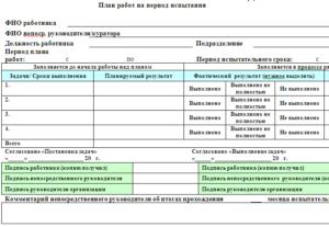 Отчет работника после испытательный срок скачать