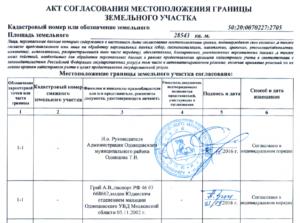 Акт согласования местоположения границы земельного участка бланк 2020
