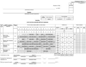 Правильное оформления табеля учета рабочего времени по совместителю