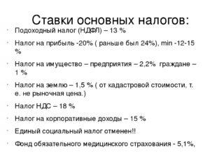 Какие налоги входят в 13 процентов подоходного налога