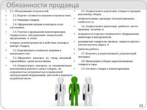 Должностная инструкция продавца консультанта одежды