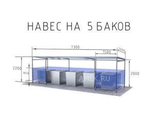 Размеры контейнерных площадок для мусора снип