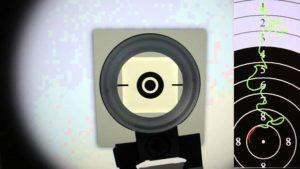 Правила прицеливания из пневматической винтовки с диоптрическим прицелом