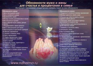 Обязанности мужа и жены в православной семье