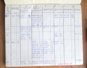 Как правильно вести домашнюю бухгалтерию в тетради образец