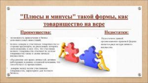 Товарищество организации плюсы и минусы