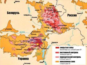 Какие районы россии входят в чернобыльскую зону