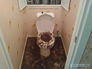 Засор общего канализационного стояка кто виноват