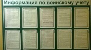 Какие документы должны быть на стенде воинского учета образец