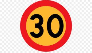Как действует временный желтый знак ограничения скорости