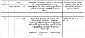 Увольнение пункт 3 часть 1 статья 77