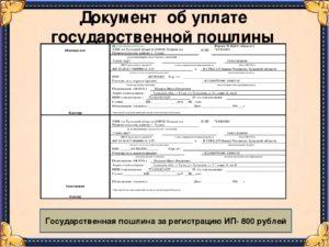 Документ подтверждающий оплату госпошлины