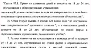В каких случаях выплачиваются алименты после 18 лет в беларуси