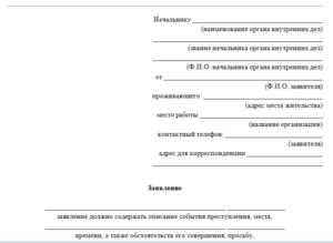 Как написать встречное заявление в полицию на ложный донос