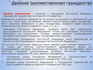 Договор российской федерации о двойном гражданстве