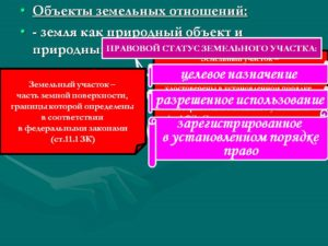 Правовой статус земельного участка включает