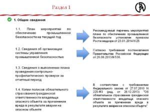 План мероприятий по промышленной безопасности