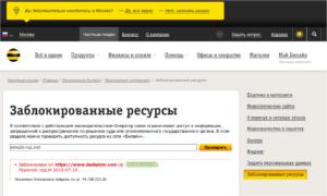 Билайн блокирует сайты как обойти