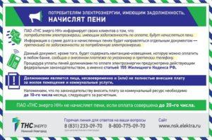 Начисление пени за электроэнергию законодательство