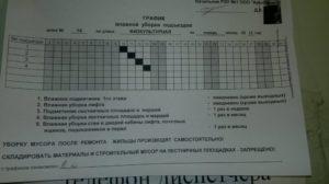 Уборка подъезда в многоквартирном доме график распечатать