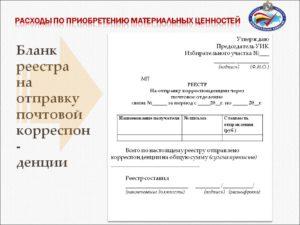 Реестр отправки простых писем образец почта россии