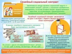 Соц проект для малоимущих семей
