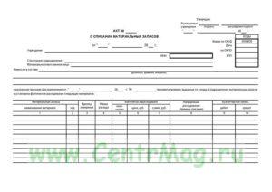 Списание материалов в производство документальное оформление и расчет